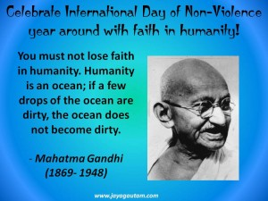Read more about the article Celebrate International Day of Non-Violence with Mahatma Gandhi's 'faith in humanity'